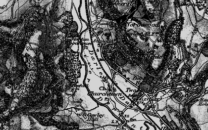 Old map of Darley Dale in 1897