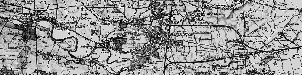 Old map of Darlington in 1897