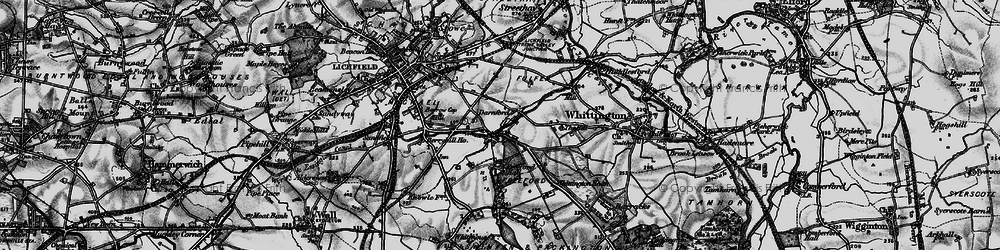 Old map of Whittington Heath in 1898