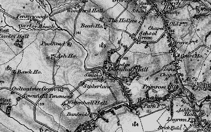 Old map of Ash Brook in 1897