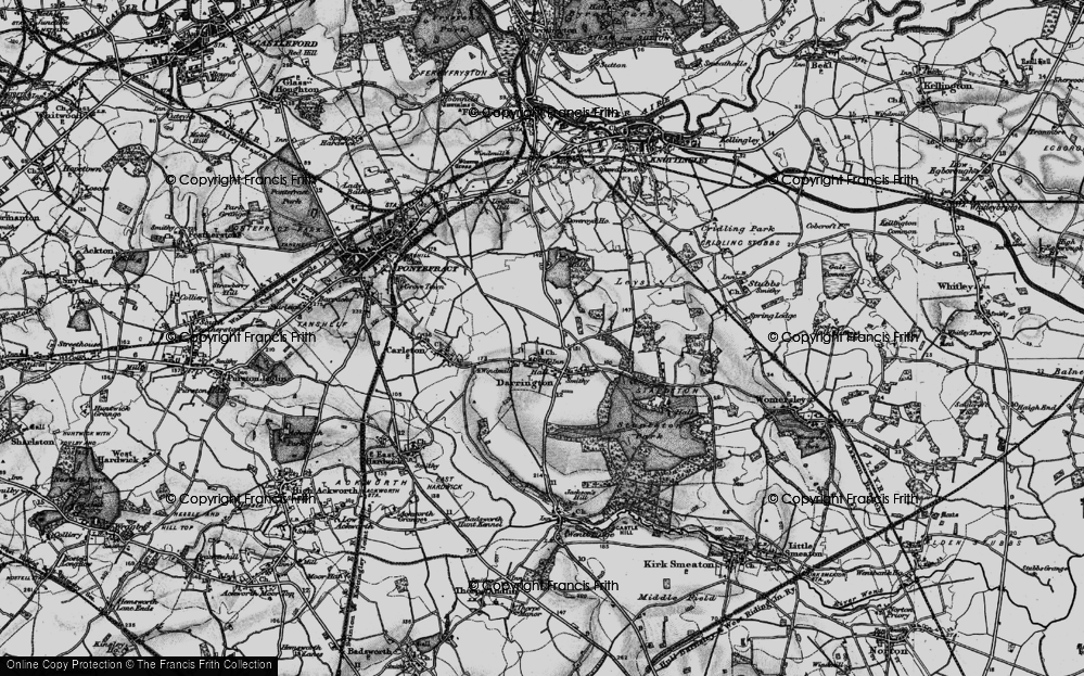 Old Map of Historic Map covering Leys in 1896