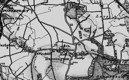 Old map of Leys in 1896
