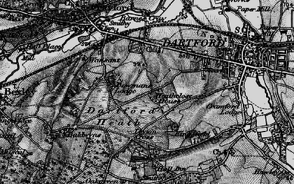 Old map of Dartford in 1895