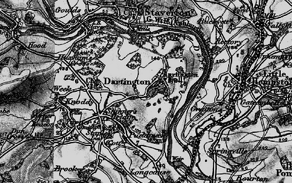 Old map of Dartington in 1898