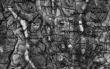 Old map of West Webburn River in 1898