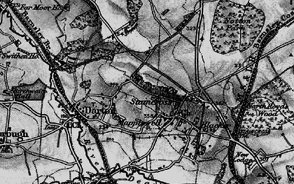 Old map of Darton in 1896