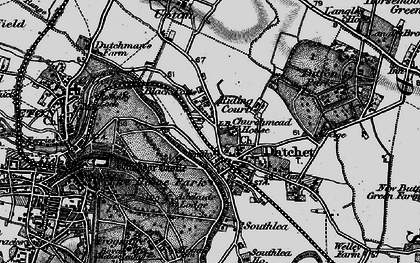 Old map of Datchet in 1896