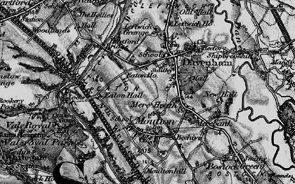 Old map of Davenham in 1896