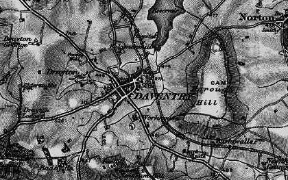Old map of Daventry in 1898