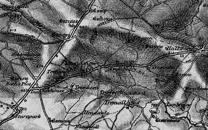 Old map of Davidstow in 1895