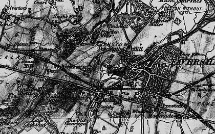Old map of Davington in 1895
