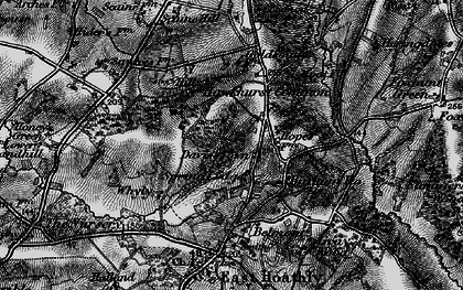 Old map of Barham Ho in 1895