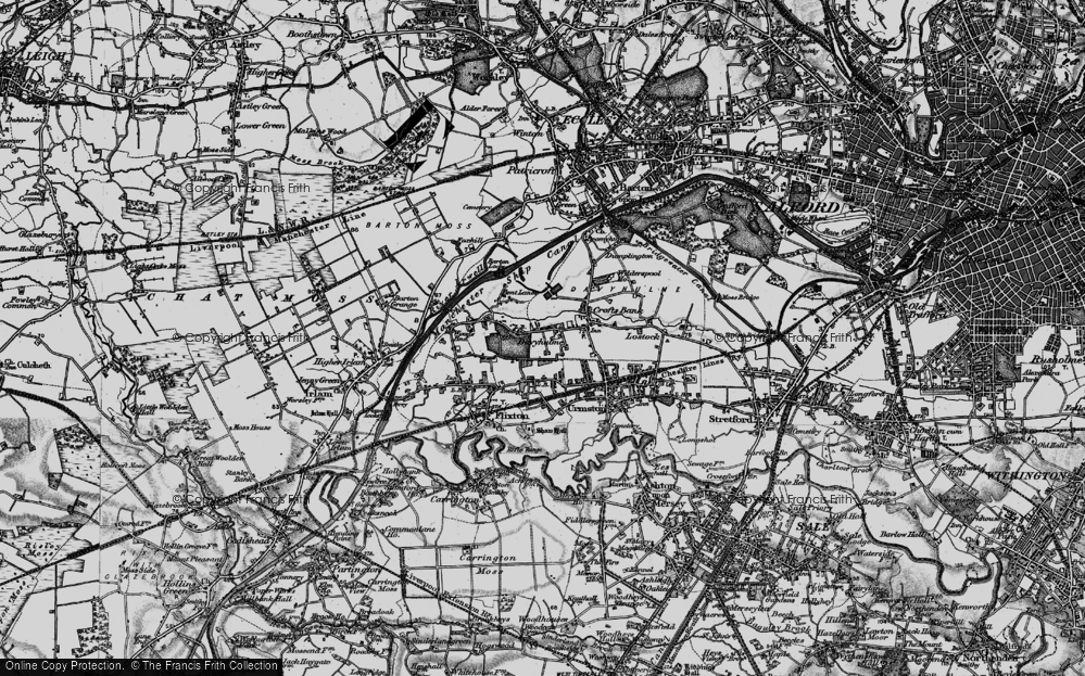 Old Map of Davyhulme, 1896 in 1896