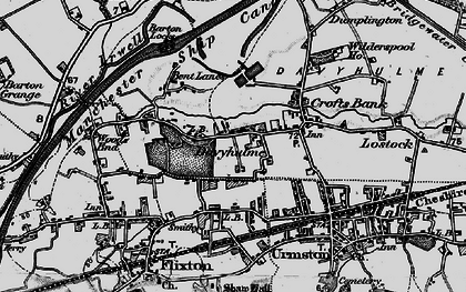Old map of Davyhulme in 1896