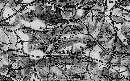 Old map of Daw's House in 1896