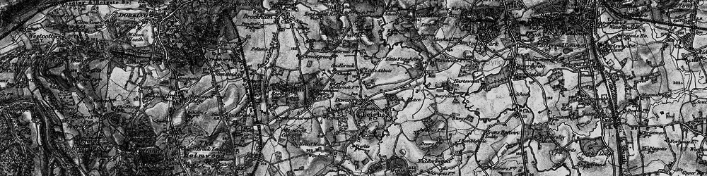 Old map of Leigh Place in 1896