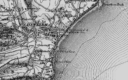 Old map of Dawlish in 1898