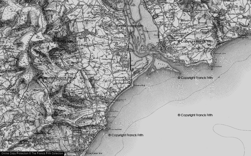 Old Map of Dawlish Warren, 1898 in 1898