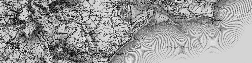 Old map of Langstone Rock in 1898