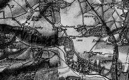 Old map of Appley Corner in 1896