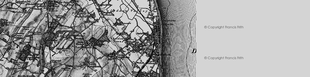 Old map of Deal in 1895