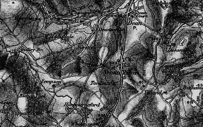 Old map of Dean Prior in 1898