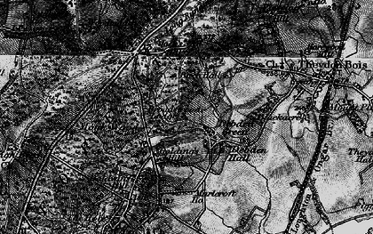 Old map of Woodbury Hollow in 1896