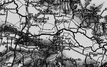 Old map of Dedham in 1896