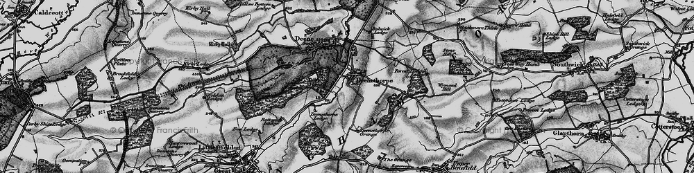 Old map of Yoke Hill in 1898