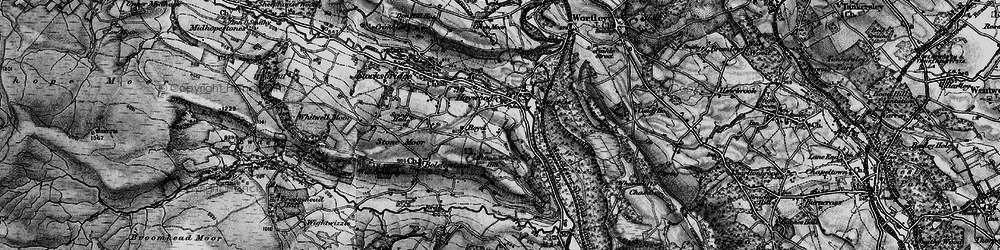 Old map of Allman Well Hill in 1896