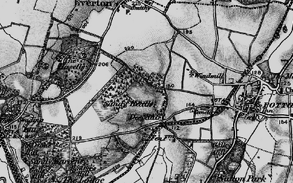 Old map of Deepdale in 1896
