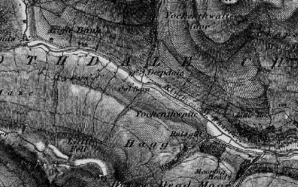 Old map of Langstrothdale Chase in 1897