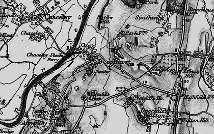 Old map of Deerhurst in 1896
