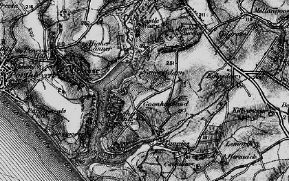Old map of Degibna in 1895