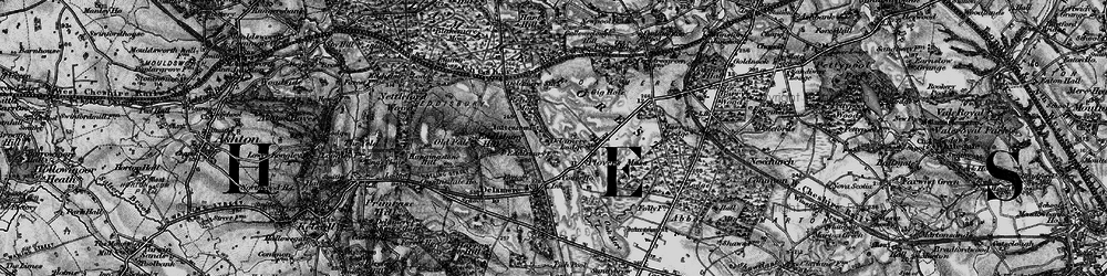 Old map of Delamere in 1896