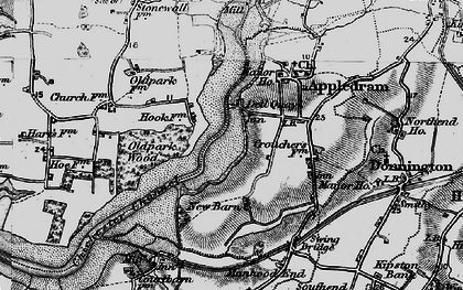 Old map of Dell Quay in 1895