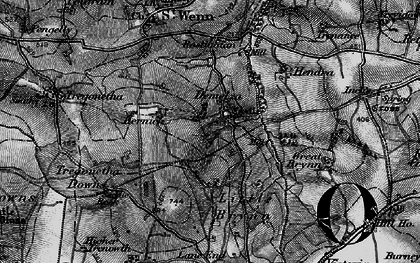 Old map of Demelza in 1895