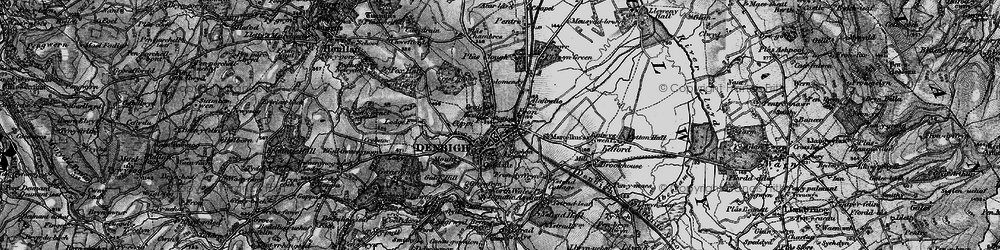 Old map of Denbigh in 1897