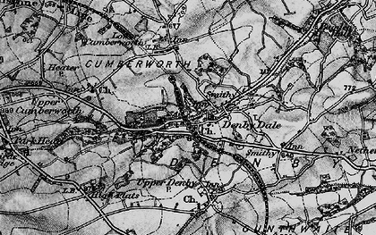 Old map of Denby Dale in 1896