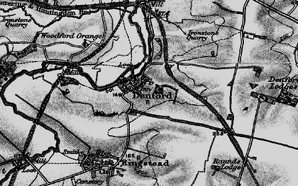 Old map of Denford in 1898