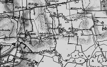 Old map of Bacons in 1895