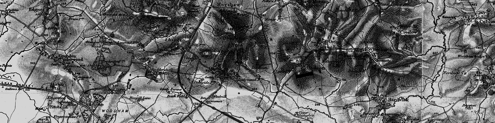 Old map of Woad Hill in 1896