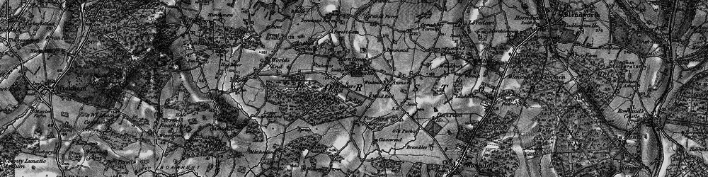 Old map of Denmead in 1895