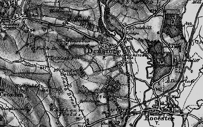 Old map of Denstone in 1897