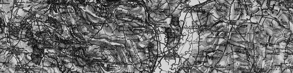 Old map of Denstone in 1897