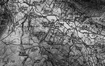 Old map of Backstonegill in 1897