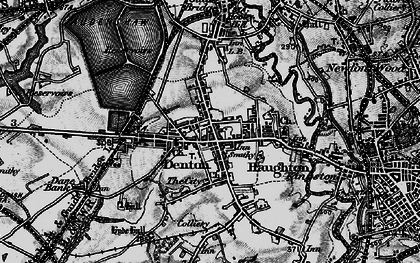 Old map of Denton in 1896
