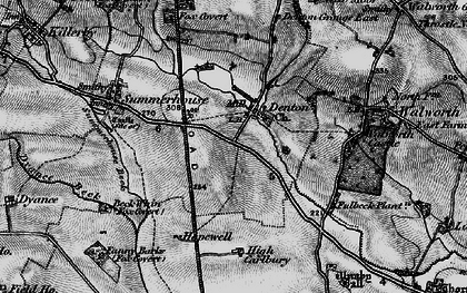 Old map of Fanny Barks (Fox Covert) in 1897