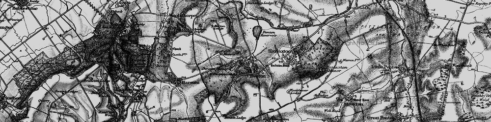 Old map of Denton in 1899