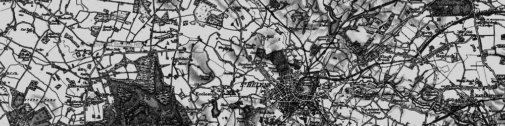 Old map of Windle Hall in 1896